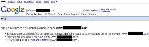 Blacklistage Google